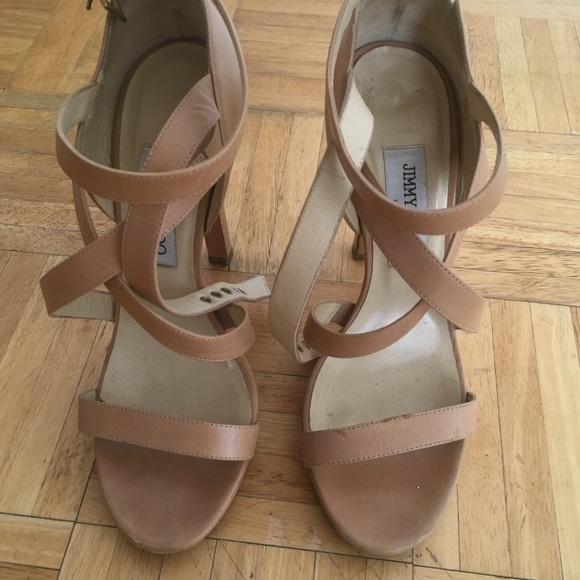 Jimmy Choo Shoes - Jimmy Choo nude heels